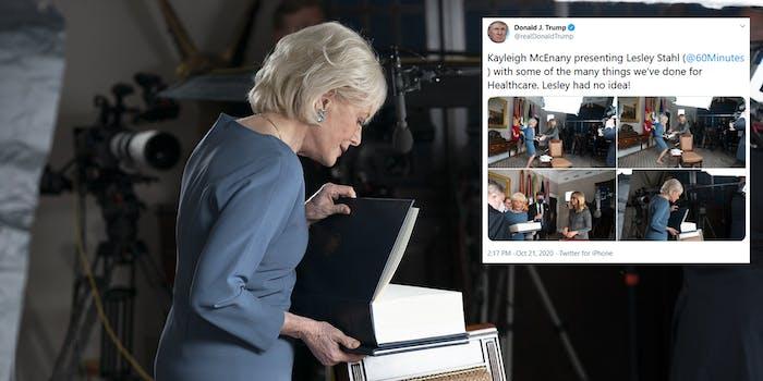 Trump Lesley Stahl Blank Pages Healthcare Binder Memes