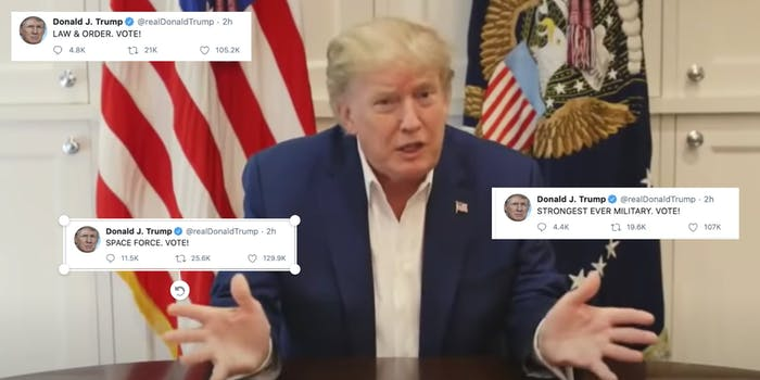 People think Trump's tweets were caused by COVID treatment