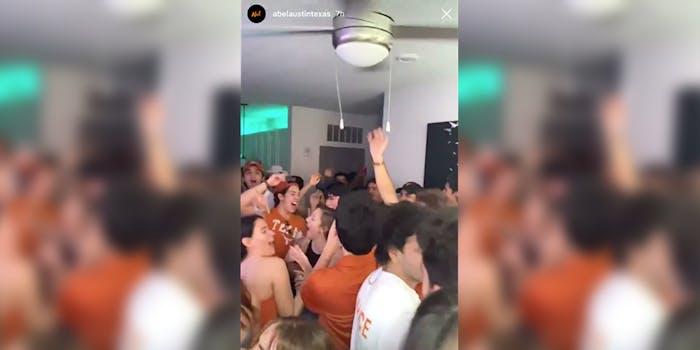 UT Austin COVID 19 party