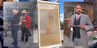 anti-masker harasses people at art installation in nyc