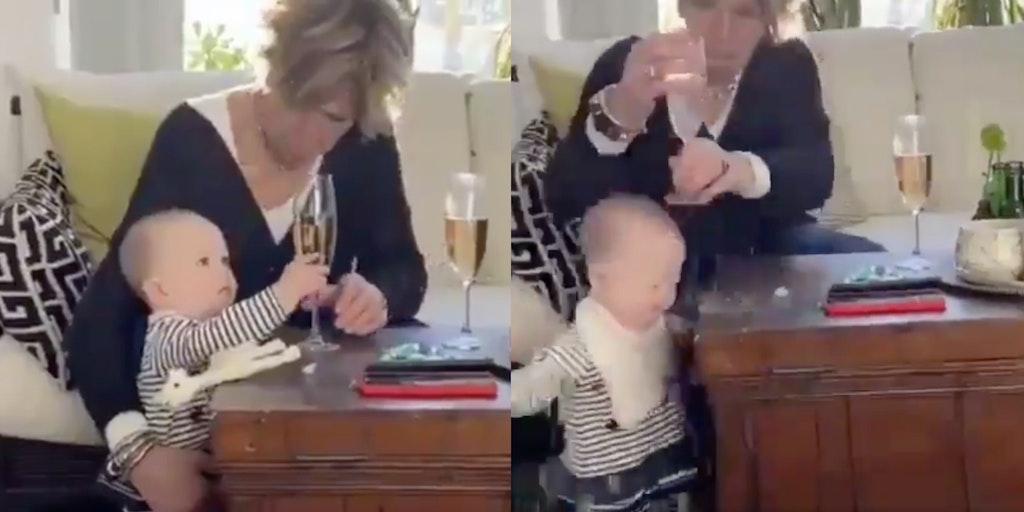 baby wine video