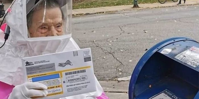 beatrice lumpkin mail in voting chicago trump
