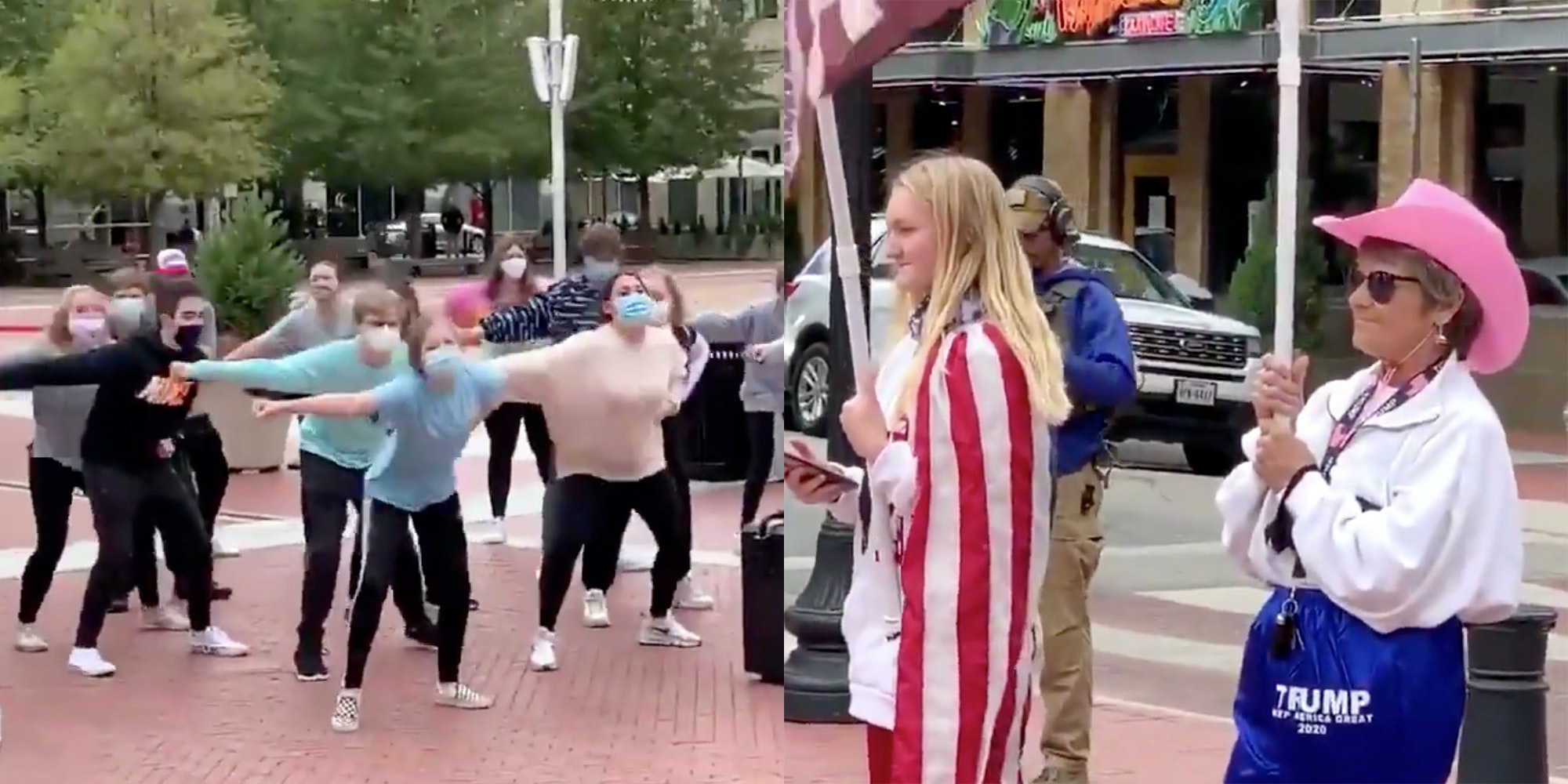 Biden vs. Trump Supporters Dance-Off (of Sorts) Goes Viral