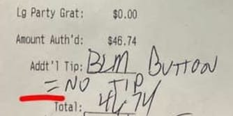 blm button no tip receipt
