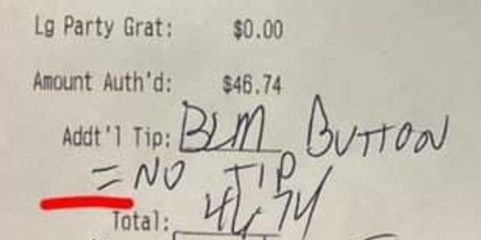 blm button no tip receipt