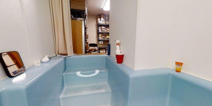 8800 Blue Lick Road basement tub