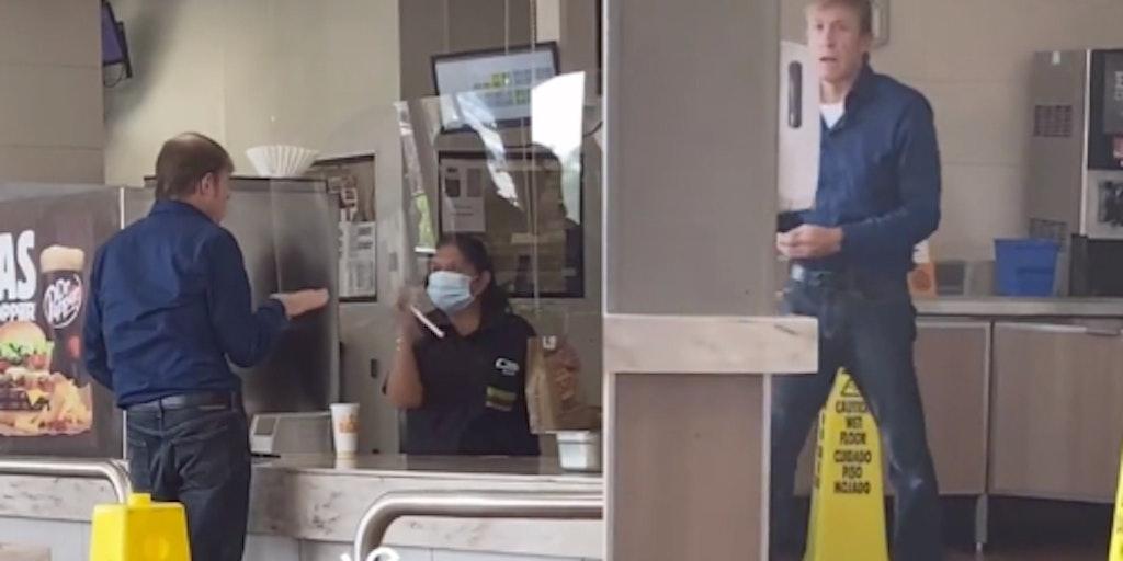 burger king worker anti-masker