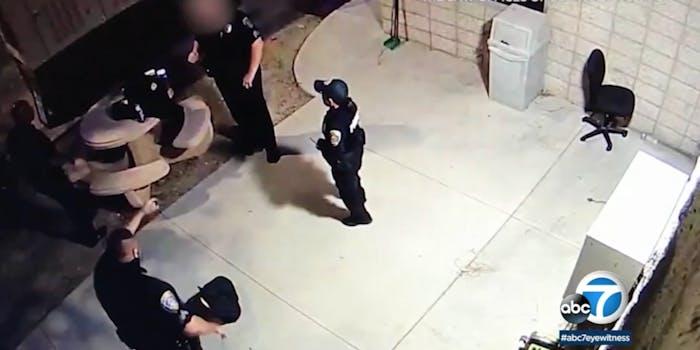 cop pulls gun on another cop over mask dispute