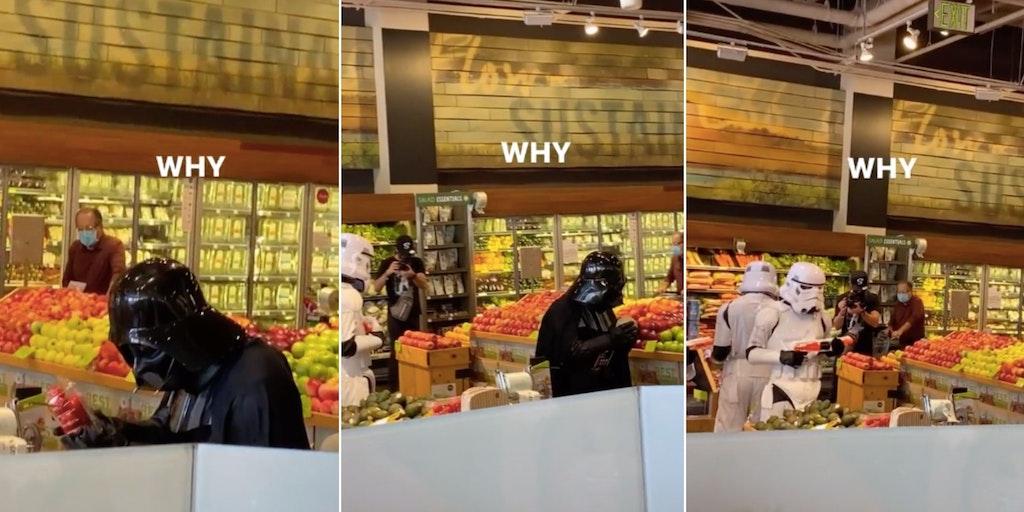 Darth Vader Whole Foods TikTok