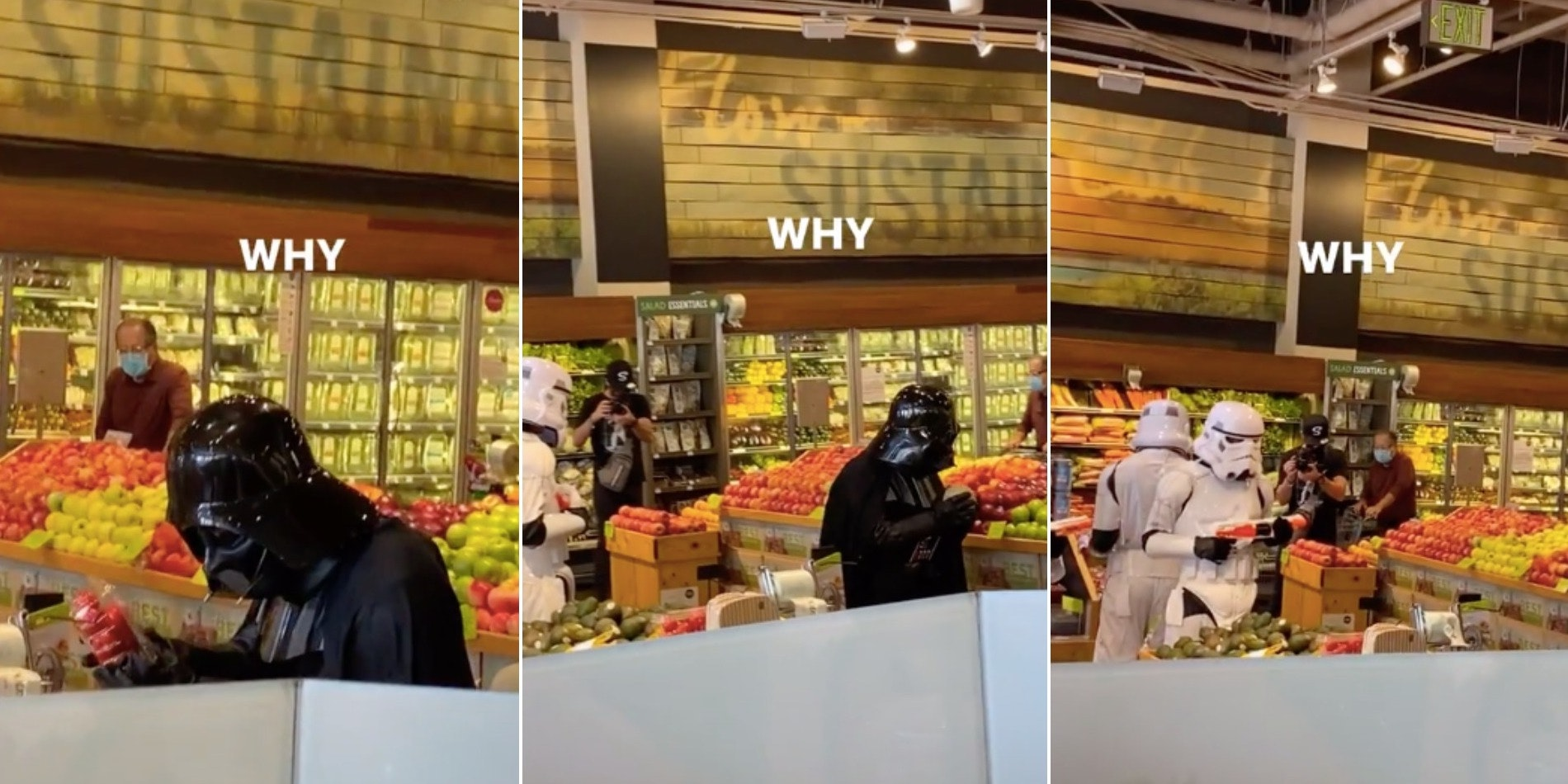 Viral TikTok shows Darth Vader and Stormtroopers scouring Whole Foods produce section