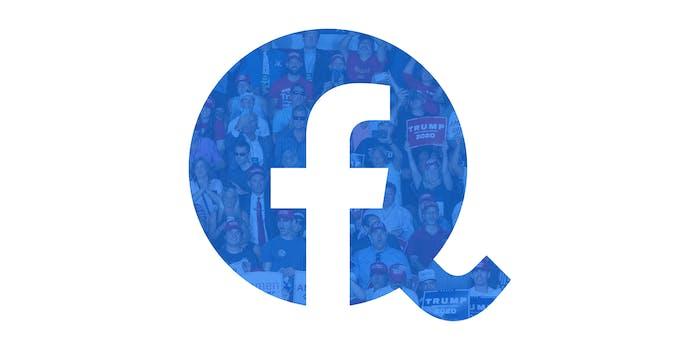 facebook qanon trump