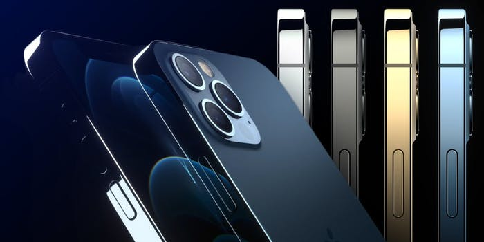 Four models of the iPhone 12