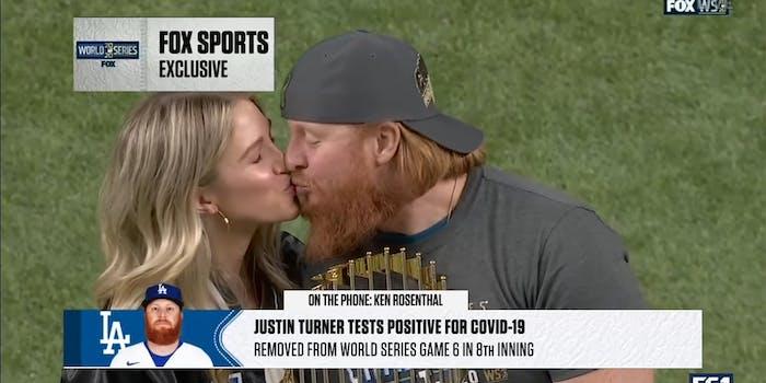 justin turner covid kiss