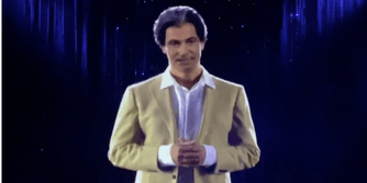 A hologram of Kim Kardashian's late father