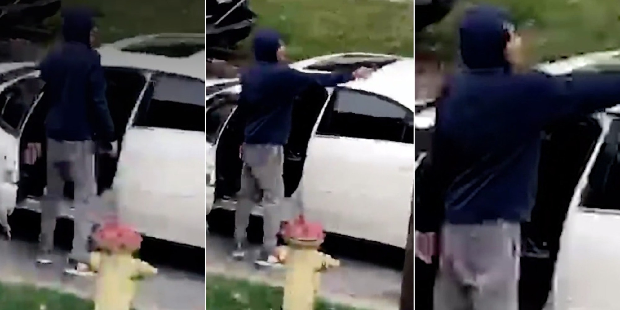 Man fires gun at teens playing basketball