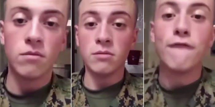 Marine racist tirade Chinese people
