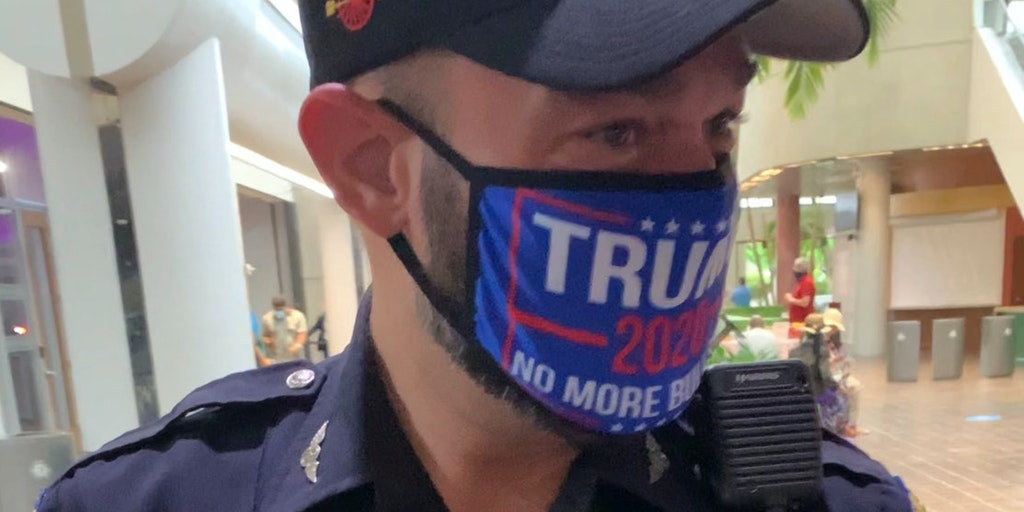miami officer trump 2020 mask voting