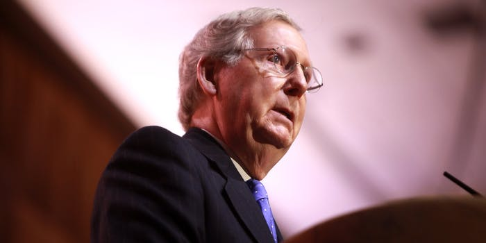 Senator Mitch McConnell of Kentucky speaking at the 2014 Conservative Political Action Conference (CPAC)