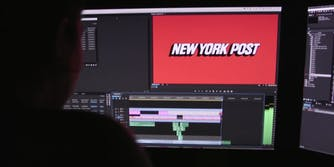 A computer screen with the New York Post logo