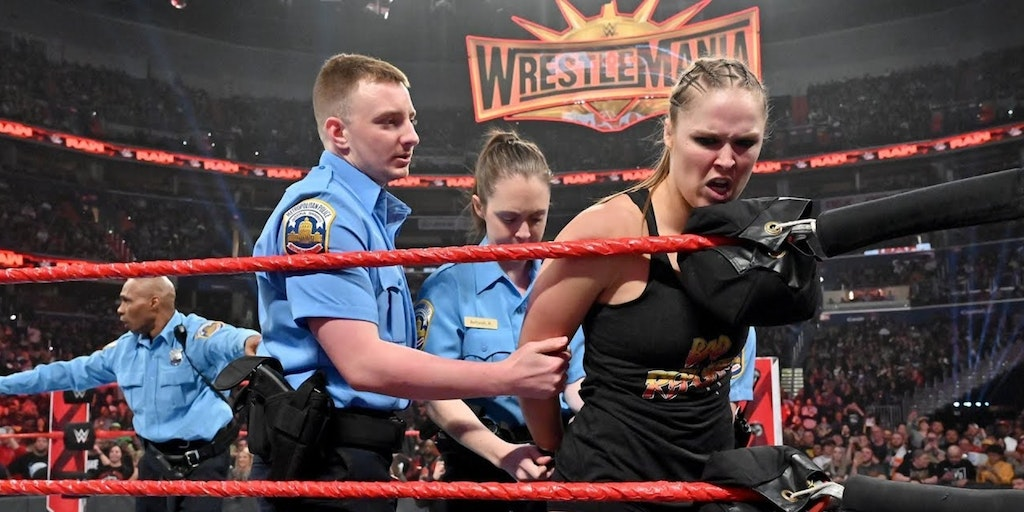 A staged arrest of Ronda Rousey