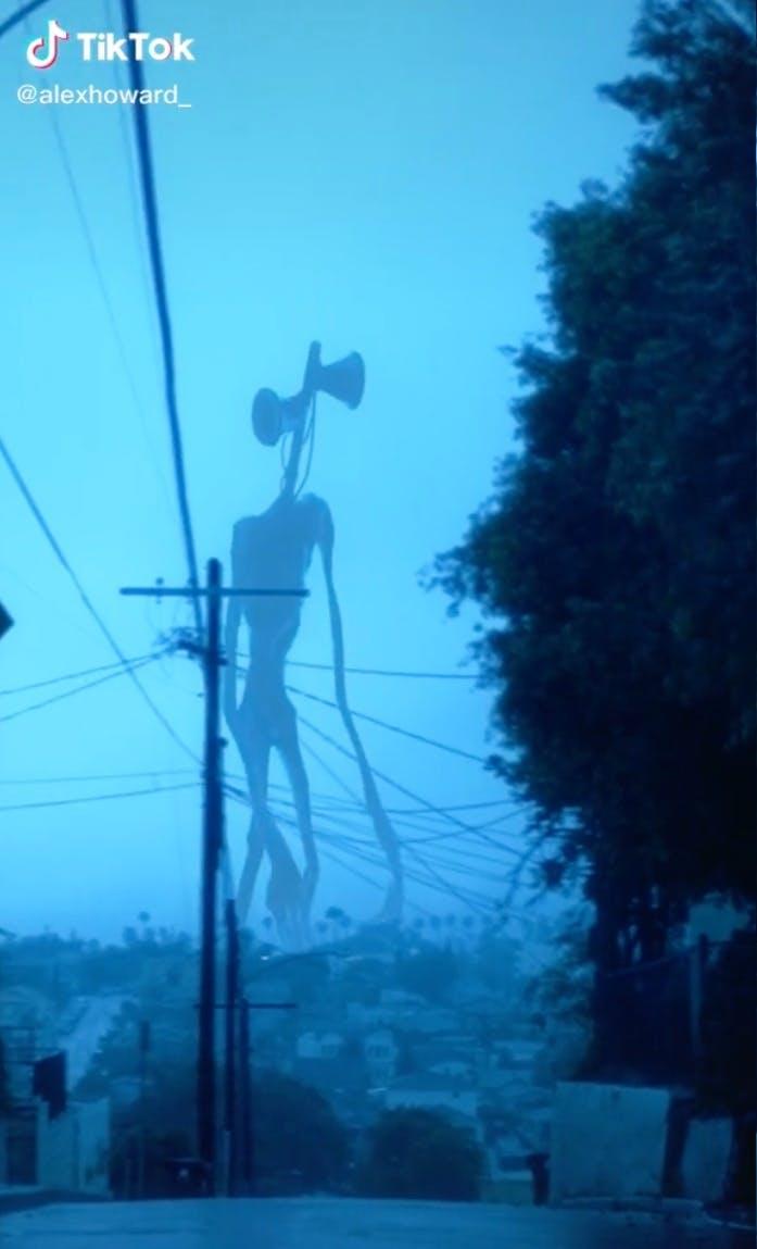 paranormal tiktok siren head