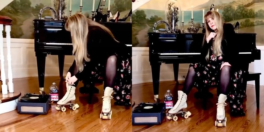 stevie nicks with roller skates