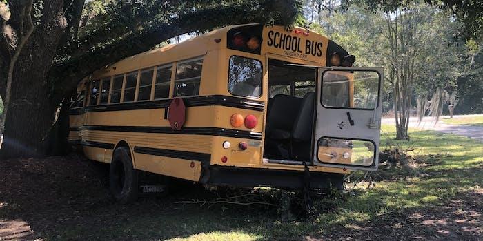 stolen school bus crash