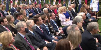 The Rose Garden filled with politicians