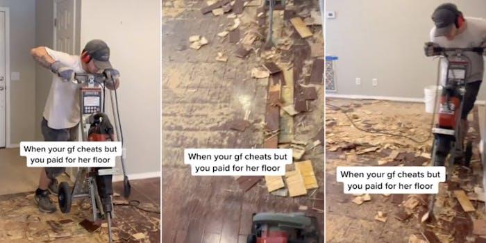 TikTok cheating ex floorboards