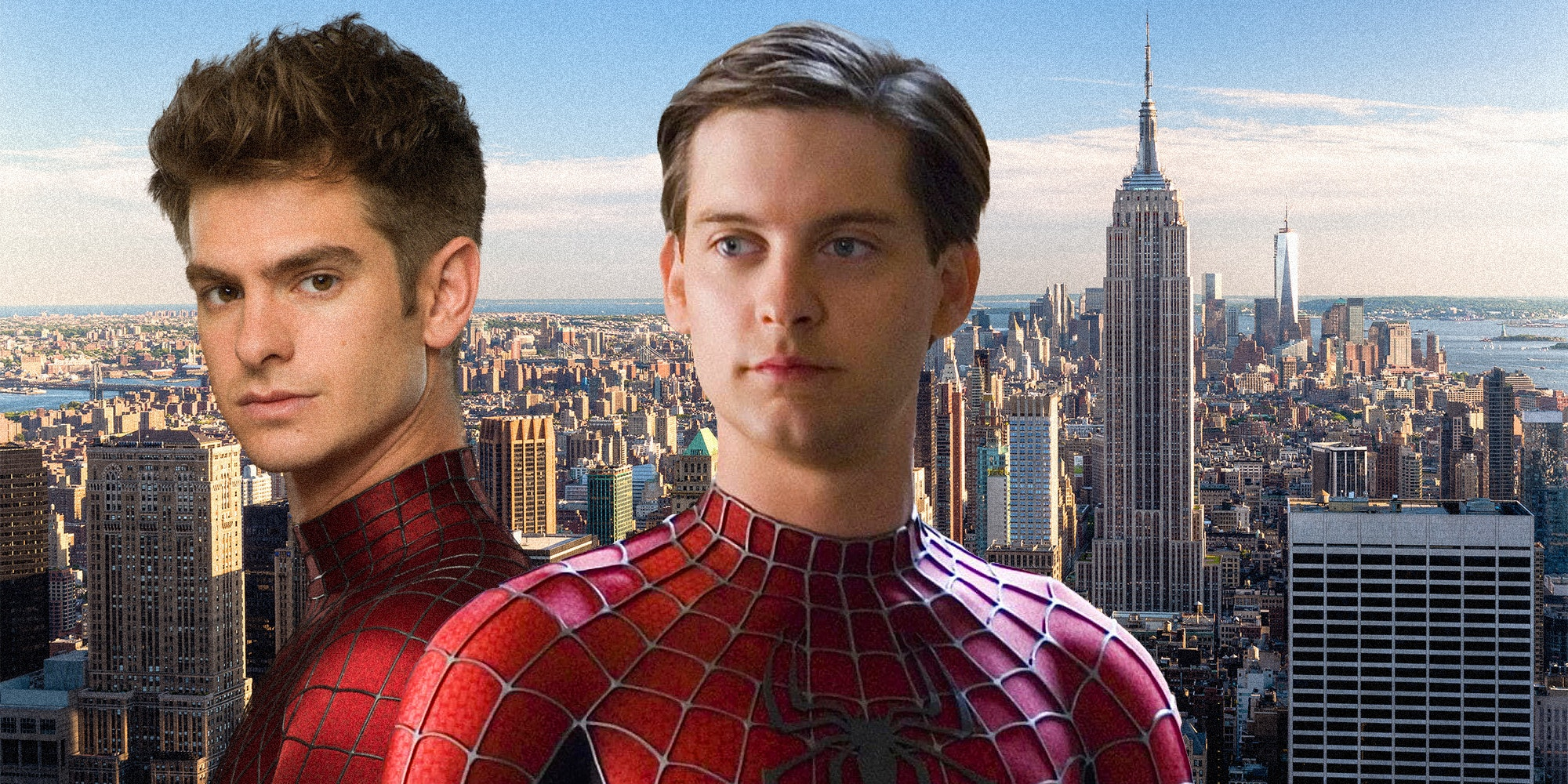 tobey maguire and andrew garfield as spiderman