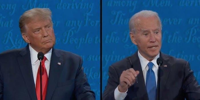 President Donald Trump and Joe Biden
