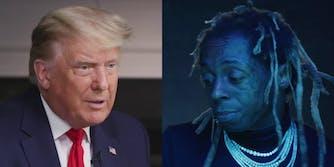 President Donald Trump and Lil Wayne