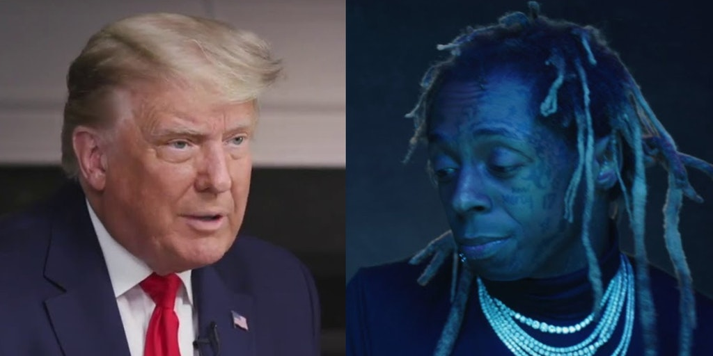 President Donald Trump and Lil Wayne