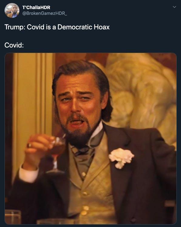 Trump gets COVID-19 memes Django