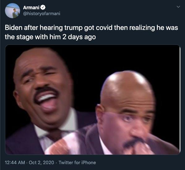 Trump coronavirus memes Steve Harvey