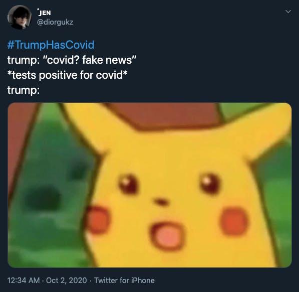 Trump coronavirus memes Pikachu