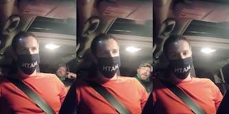 uber driver joe biden homophobic passenger