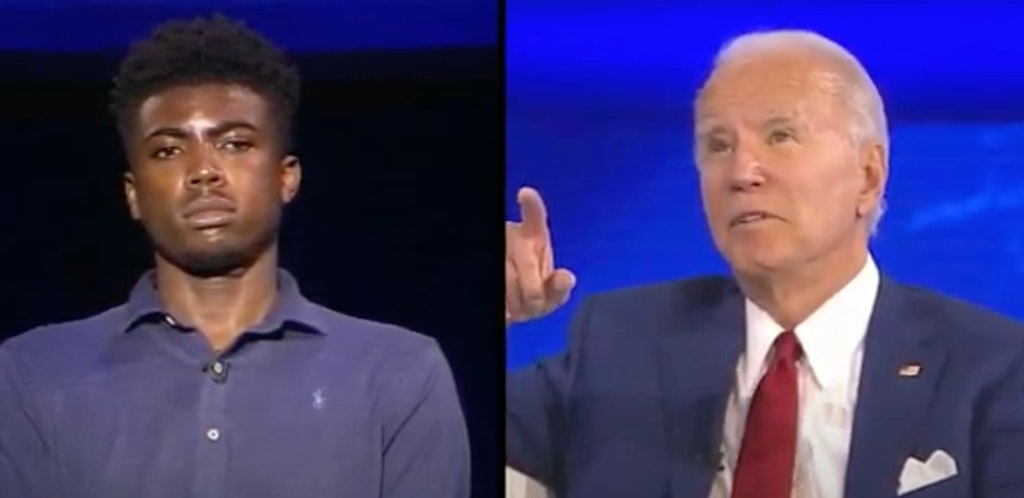 Biden is called out for 'you ain't black' comment at town hall