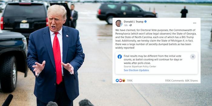 Donald Trump Election Post Facebook