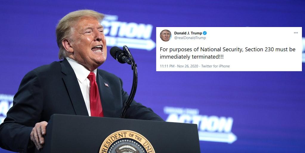 Donald Trump Section 230 National Security