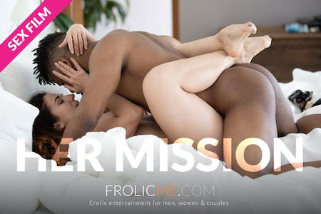 """Rome & Jasmine wrapped in each others arms for the FrolicMe film """"Her Mission"""""""