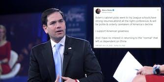 Marco Rubio Biden Cabinet Tweet