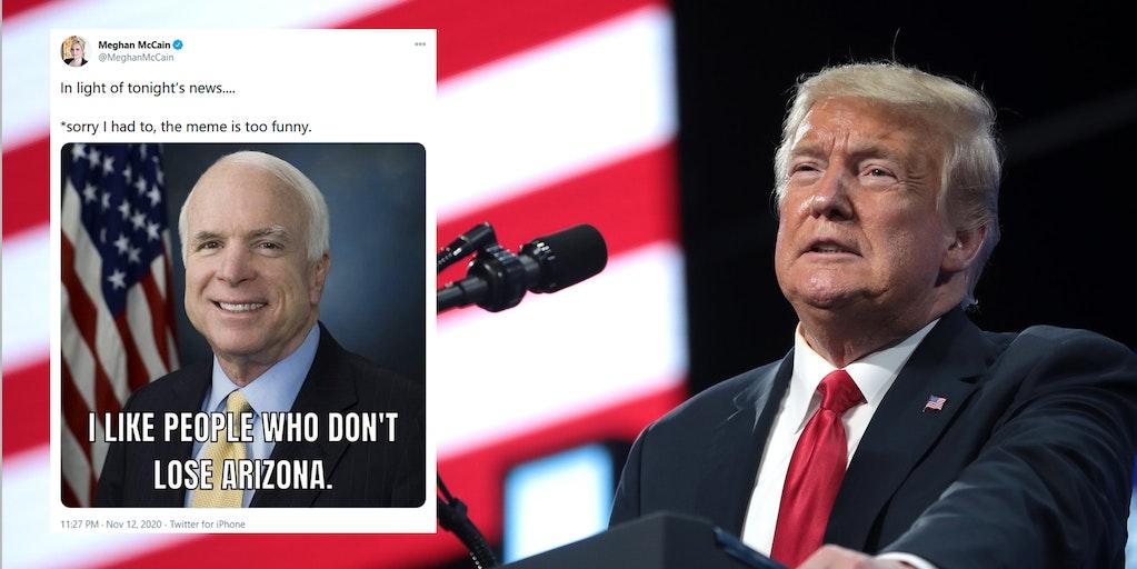 Meghan McCain Donald Trump Arizona Meme