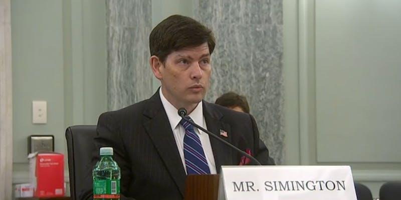 Nathan Simington Senate Hearing FCC