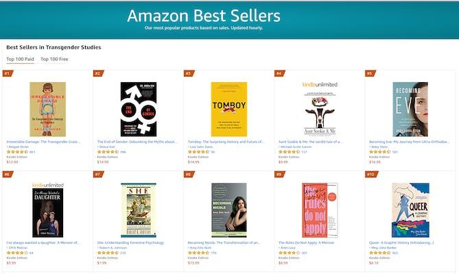 Target Transphobia Amazon Best Sellers Trans Studies