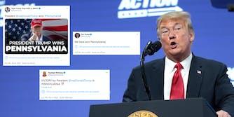 Trump Falsely Claim Win Pennsylvania