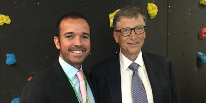 Bill Gates and the CEO of Smartmatic