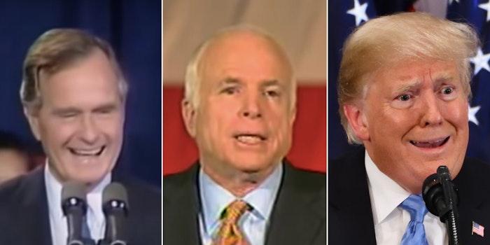 Bush McCain Trump concession speeches