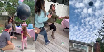 Gender reveal balloon fail video