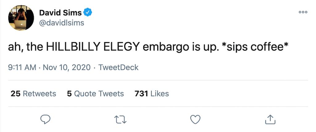 hillbilly elegy embargo up